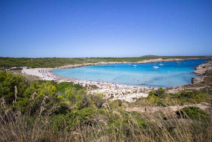 La Playa de Son Parc en Menorca